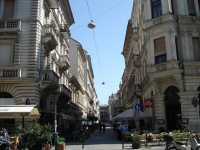 Hajos street with its restaurants and cafes