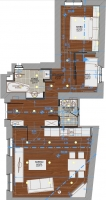 Opera Apartment Budapest layout plan